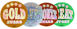 Glitz Medal Award Stickers