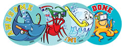 Water Sports Stickers - Sea Animals