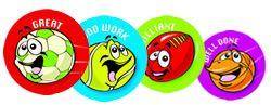 Sport Stickers and Prizes